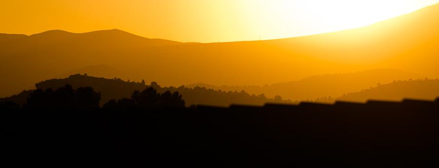 Productora de vídeo: puesta de sol
