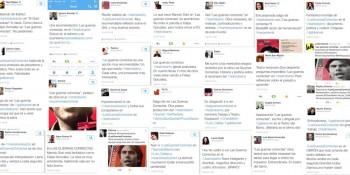 Las guerras correctas promo muro twitter