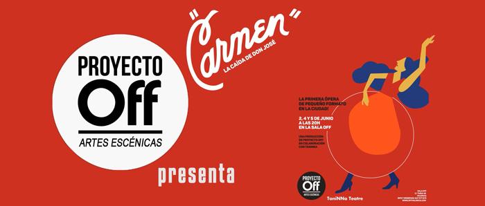 Cartela inicial promocional Ópera Carmen